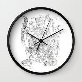 Fanta See abstract face Wall Clock