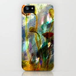 flowers on the field iPhone Case