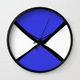 Blue Black X Wall Clock