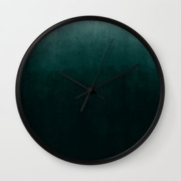 Ombre Emerald Wall Clock