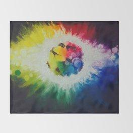 rainbow burst Throw Blanket