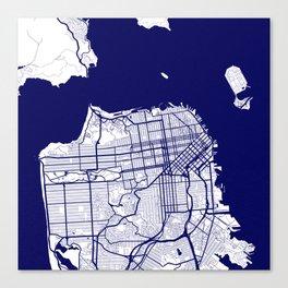San Francisco City Map 02 Canvas Print