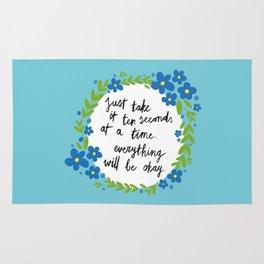 Ten Seconds - Blue Rug