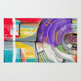 Abstract Summer Land Rug