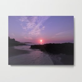 Purple Beach Sunrise Metal Print