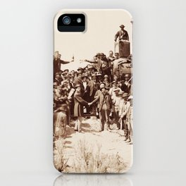 Transcontinental Railroad - Golden Spike Ceremony iPhone Case
