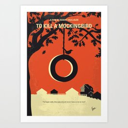 No844 My To Kill Mockingbird minimal movie poster Art Print