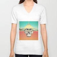 safari V-neck T-shirts featuring Mental Safari by maysgrafx