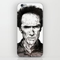 clint eastwood iPhone & iPod Skins featuring Clint Eastwood by Danielle Ross
