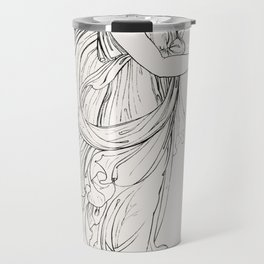 Bacchante carrying a wreath from An  of the Egyptian Grecian and Roman costumes by Thomas Baxter (17 Travel Mug