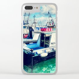 Trapani art 16 Sicily Clear iPhone Case