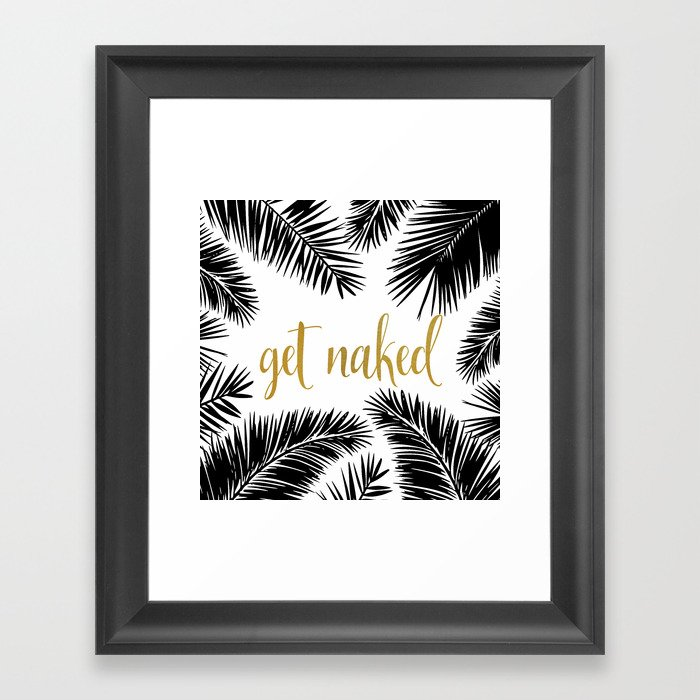 Get Naked Print,Bathroom Decor, Black and White Tropical Palm Leaves ...