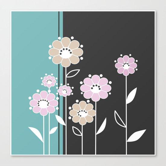 Floral applique . Retro .  Canvas Print