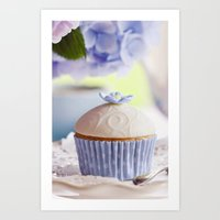 cupcake Art Prints featuring CUPCAKE by Ylenia Pizzetti