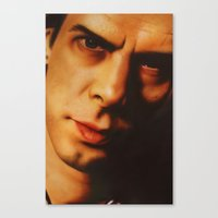 nick cave Canvas Prints featuring Nick Cave  by Bilistik Art