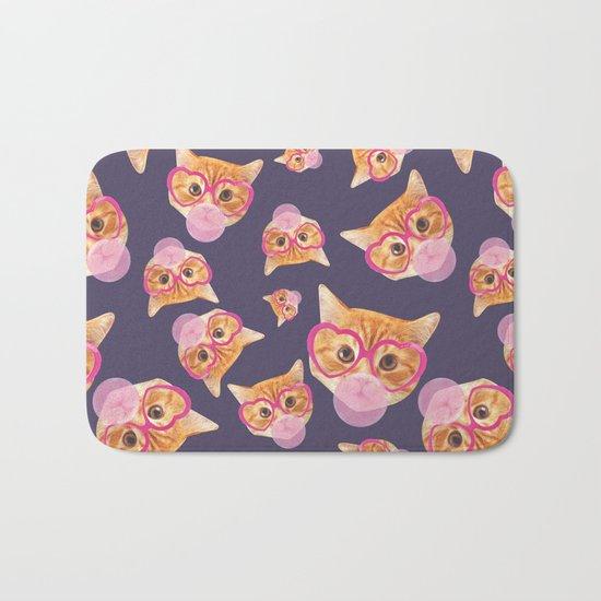Bubblegum Cat Bath Mat