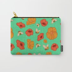 Poppies & Bees Carry-All Pouch