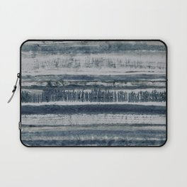 Expressive Indigo Watercolor Stripe Laptop Sleeve
