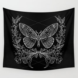 Moth Floral Wall Tapestry