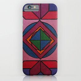 Tangram Art #7: Metallic iPhone Case