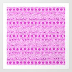 Lacey Lace - White Pink Art Print