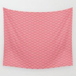 Japanese Sakura Koinobori Fish Scale Pattern Wall Tapestry