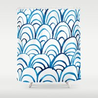 scales Shower Curtains featuring Scales by Alex Dehoff