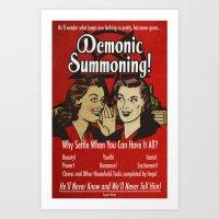 Demon Humor 50s Poster Art Print