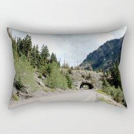 Driving the Spectacular, but Perilous Uncompahgre Gorge, No. 5 of 6 Rectangular Pillow