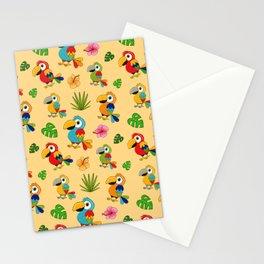 Colorful Macaws Stationery Cards