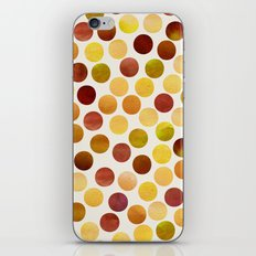 Watercolor Dots_Amber iPhone & iPod Skin