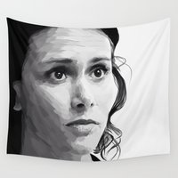 melissa smith Wall Tapestries featuring melissa ponzio by Finduilas