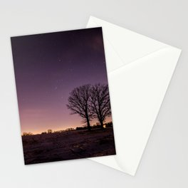 Twin Oaks Under Orion Stationery Cards