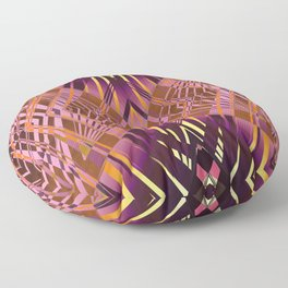 PRETTY VIOLET CORAL YELLOW SWEEPING LINES Floor Pillow