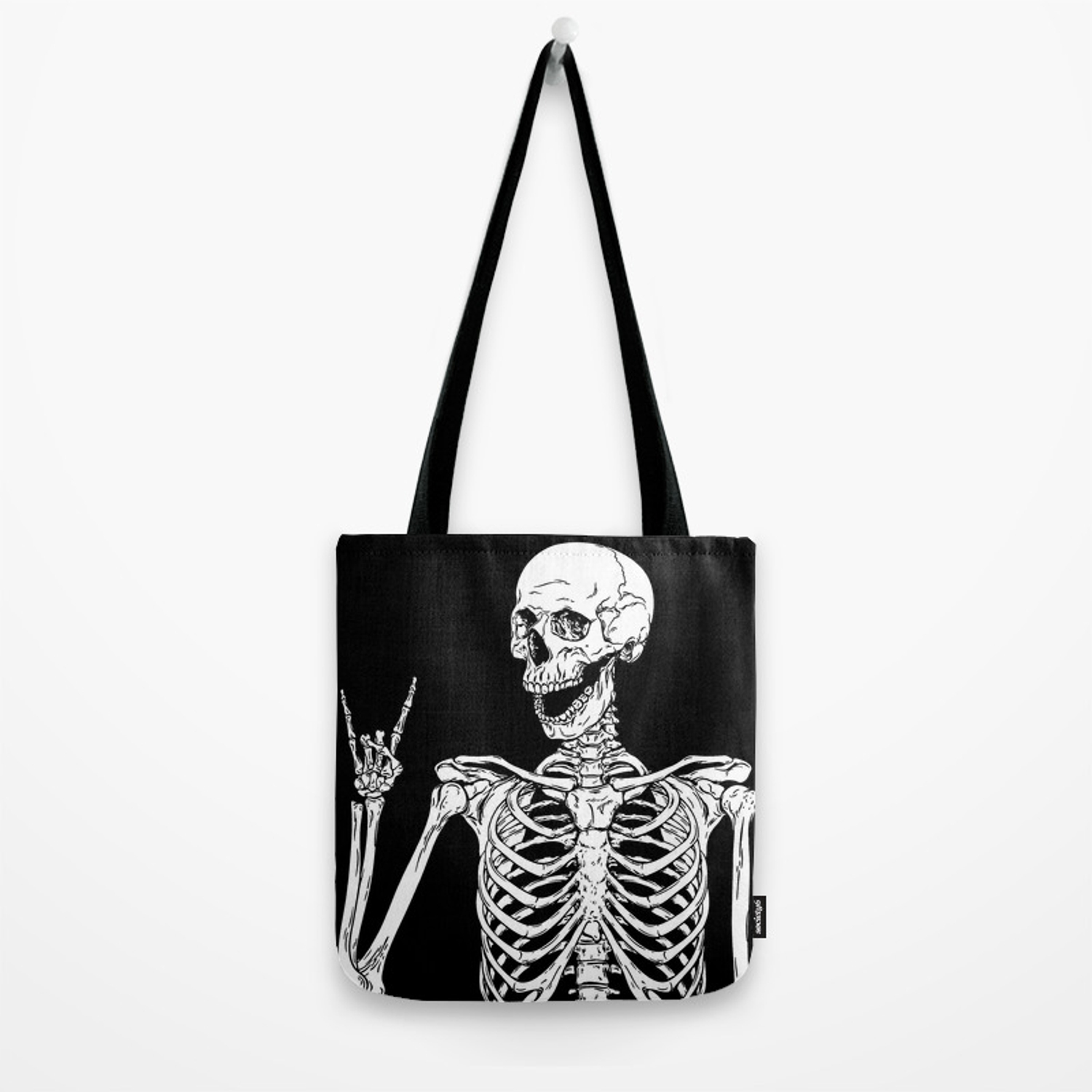 Rock /& Roll Skeleton Fingers New Small Lightweight Drawstring Tote Gift Loot Bags Events Musicians Party