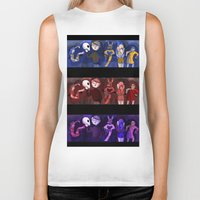 shakespeare Biker Tanks featuring Shakespeare Kids by Louisa Lawler