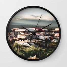 Alaskan Canoe // Storage in the Wilderness for the Adventureous in Spirit Wall Clock