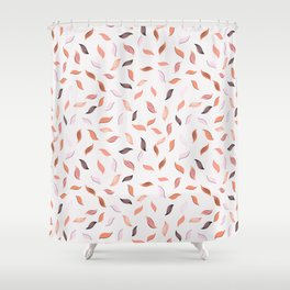 Falling Leaves Seamless Pattern Shower Curtain