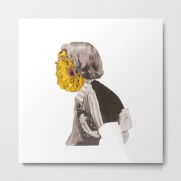 002 yellow Metal Print