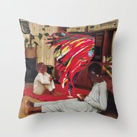 tv Throw Pillows featuring Television by Lerson