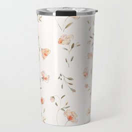 Watercolor Floral Pattern Travel Mug