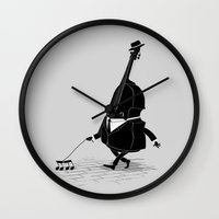 bass Wall Clocks featuring Walking Bass by Triagus