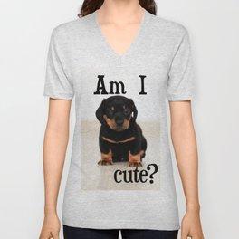 Am I cute? Unisex V-Neck