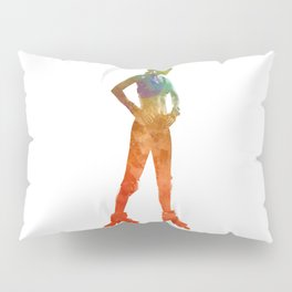 Woman in roller skates 11 in watercolor Pillow Sham