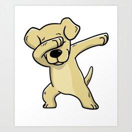 Dabbing Labrador Retriever Dog Dab Dance Art Print