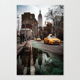 23rd Street Puddles Canvas Print