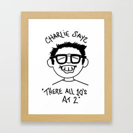 Charlie Says Framed Art Print