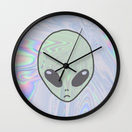 Alien Pastel Wall Clock