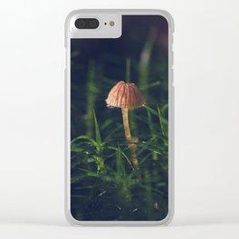 Polytrichum commune (moss) and mushroom (galerina marginata). Bonus: bug Clear iPhone Case