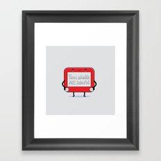 You shake my world Framed Art Print